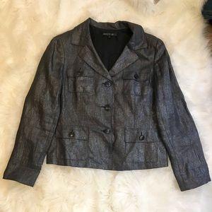 Lafayette 148 New York Metallic Blazer Jacket 10